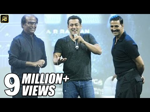 Salman Khan At Robot 2.0 First Look Launch Full Video HD - Rajinikanth, Akshay Kumar