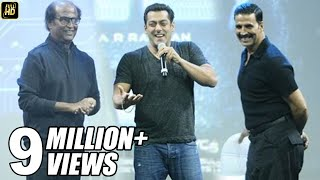 Video Salman Khan At Robot 2.0 First Look Launch Full Video HD - Rajinikanth, Akshay Kumar MP3, 3GP, MP4, WEBM, AVI, FLV September 2018