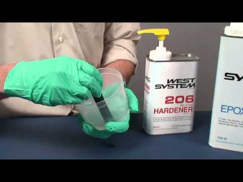 West System Epoxy: Dispensing and Mixing