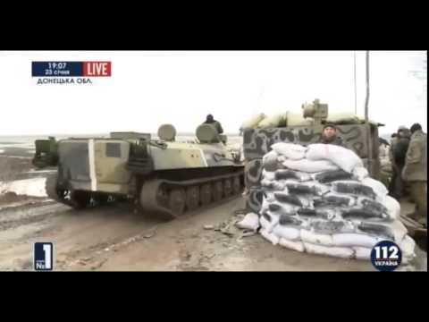 Репортаж с блокпоста ВСУ возле Горловки Украина АТО война на Украине
