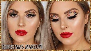 Christmas Lights Makeup Tutorial! 🎄 EASY Christmas Glam by Shaaanxo