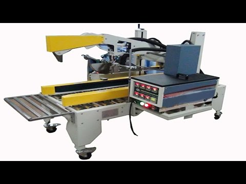 hotmelt glue carton sealing semi automatic case sealer Machine d'application de colle thermofusible