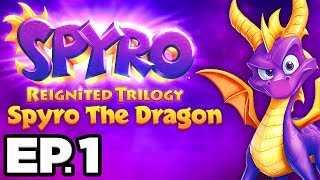 Spyro The Dragon Ep.1 - SPYRO IS BACK! STOP GNASTY GNORC!! (Reignited Trilogy Gameplay / Let's Play)