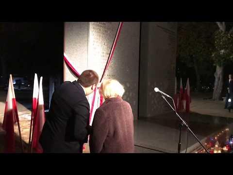 Wideo1: Odsłonięcie pomnika Bohaterów Ziemi Gostyńskiej