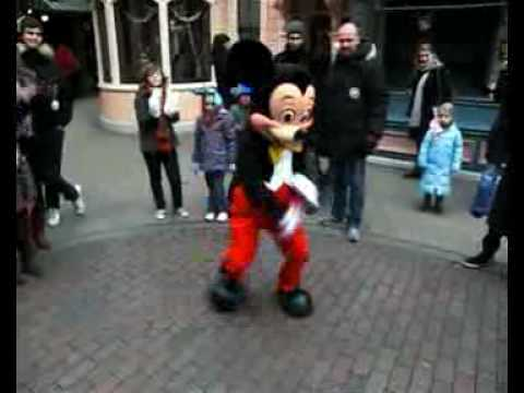 Mickey Mouse Break Dancing