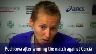 Olga Puchkova comenta vitória sobre Caroline Garcia no Brasil Tennis Cup