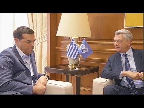 Συνάντηση Αλ Τσίπρα με τον ύπατο αρμοστή ΟΗΕ για πρόσφυγες, Φιλίπο Γκράντι