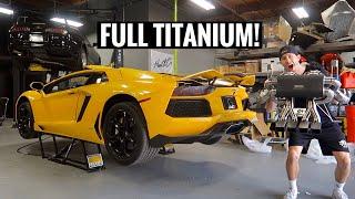 Lamborghini Aventador LOUD Exhaust Install! by TJ Hunt