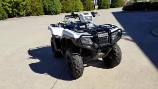 4. 2017 Honda Foreman 500 ES + EPS 4x4 ATV (TRX500FE2H) Walk-Around Video | White | HondaProKevin.com