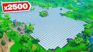 *2500* BOUNCE PADS vs LOOT LAKE in Fortnite Battle Royale!
