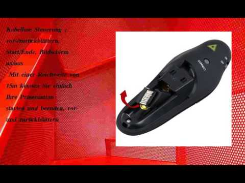 am besten August LP205R - Schnurloser Presenter mit rotem Laserpointer  voll