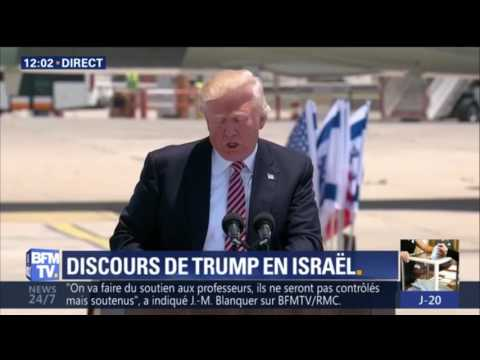 """Trump en Israël: """"Nous avons une opportunité rare d'apaiser la région et de vaincre le terrorisme"""""""