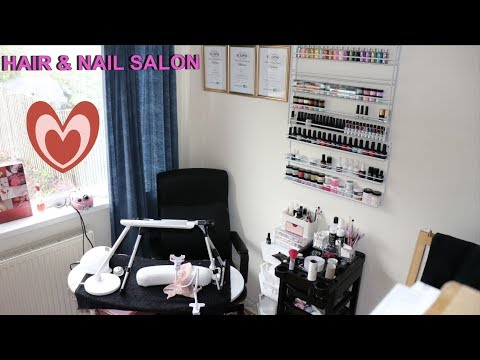 SETTING UP MY HOME HAIR & NAIL SALON  VLOGOWEEN DAY #7  IdleGirl Vlogs  #24
