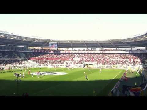 Torino - Fiorentina GEMELLAGGIO cori fra le tifoserie prepartita