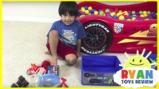 SURPRISE TOYS Giant Ball Pit Challenge with Ryan ToysReview