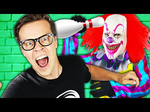 Matt Spent 24 Hours Trapped in Abandoned Bowling Alley with Clowns for rhs Face Reveal!