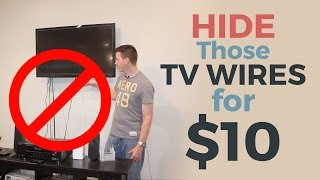 Video How to Hide Your TV Wires for $10 MP3, 3GP, MP4, WEBM, AVI, FLV Agustus 2019
