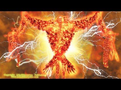 Ezechiël's visioen van God. Profeet Ezechiël 1, 10.Dutch subtitles.Nederlands.Cherubijnen.Cherubijn