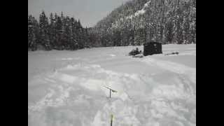 Forestville (QC) Canada  city pictures gallery : Ski-doo au lac Pelletier, Forestville, Qc, Can