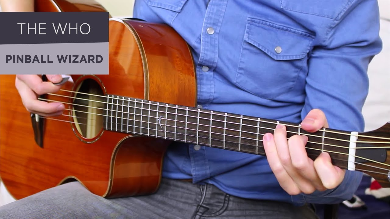 THE WHO – PINBALL WIZARD Guitar Lesson Tutorial // Acoustic + Electric!