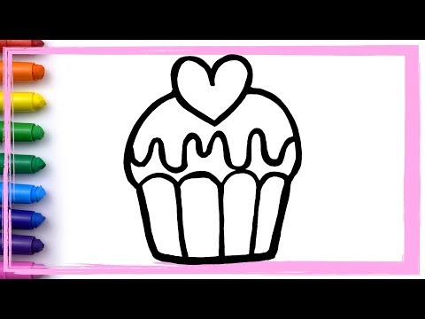YUMMY CUPCAKES Drawing and Coloring Pages Learn Colors for Kids HOW TO | Whoopee Playhouse