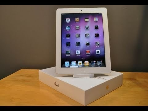 The New Apple iPad 3 32GB Wi-Fi + 4G White Unboxing - Reupload