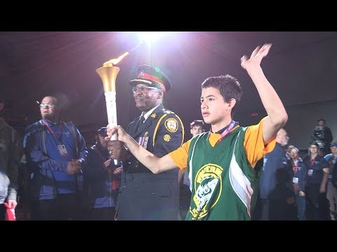 @TorontoPolice Chief Mark Saunders Lights Flame of Hope to Kick Off Special Olympics Youth Games