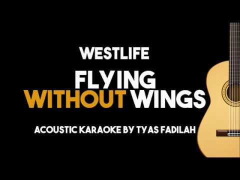 Westlife – Flying Without Wings (Acoustic Guitar Karaoke Backing Track with Lyrics)