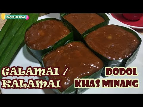 Cara Buat || KALAMAI - GALAMAI || DODOL LEBARAN || Cemilan Khas Minang by @ Dapur Uni Dewi
