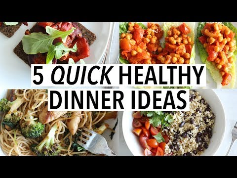 5 QUICK HEALTHY DINNER IDEAS | Easy Weekday Recipes!