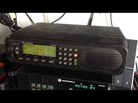 Motorola Micom-2EF Radio Receiving Ham Radio Contest On 20 Meter Band