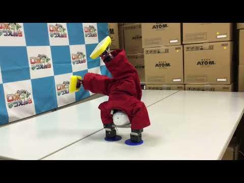 神奈川「バーチャル開放区」ロボットの器械体操の画像