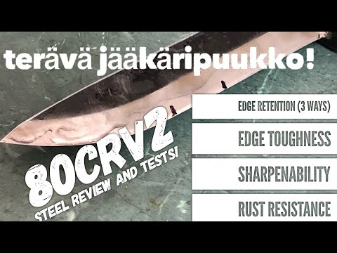 Review: 80crv2 Steel - Terava Jaakaripuukko Edge Retention, Sharpening, Toughness, Rust Etc