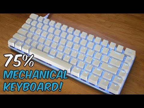 Ajazz AK33 Zorro Keyswitches 75% Gaming Mechanical Keyboard - Unboxing & Review