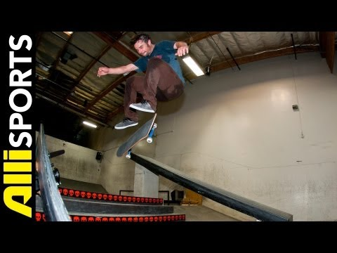 How To Nollie Kickflip, Jimmy Carlin, Alli Sports Skate Step By Step Trick Tips