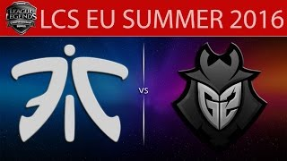 Fnatic vs G2, game 2