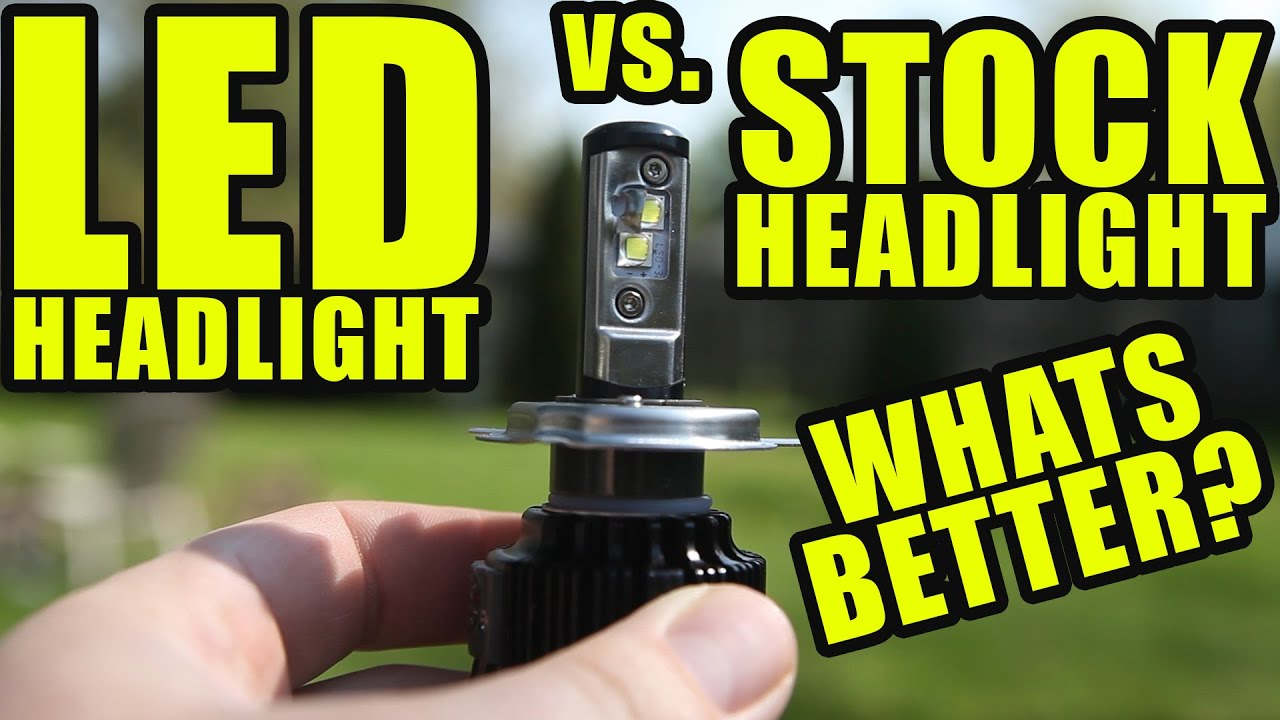 LED VS. HALOGEN Motorcycle Headlights. Whats better?!