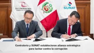 Ndp53 Contraloría y SUNAT unen esfuerzos para luchar contra la corrupción