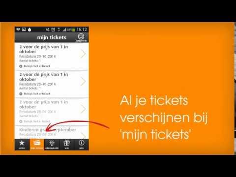 Reisticket voor bus en trein op smartphone
