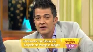 Fernando del Solar revela enfermedad en Venga la alegria