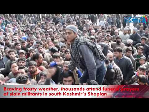 kashmir protests in snow