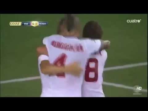 calcio amichevole roma- real madrid 1-0: il gol di francesco totti