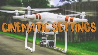 These are The BEST DJI Phantom 3 Standard CINEMATIC Settings! How to get the most out of your DJI Drone Footage and how...