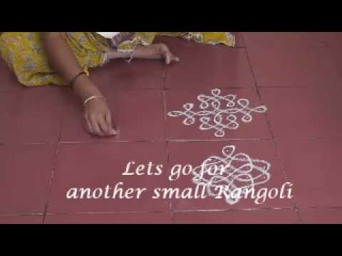 simple and small rangoli patterns using dots