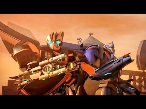 Transformers Prime Season 03 Episode 5 Rebellion in Hindi. Bumblebee and Smokescream United in Hindi