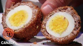 Video Who Cooked The Best Scotch Egg? | MasterChef Canada | MasterChef World MP3, 3GP, MP4, WEBM, AVI, FLV Mei 2019