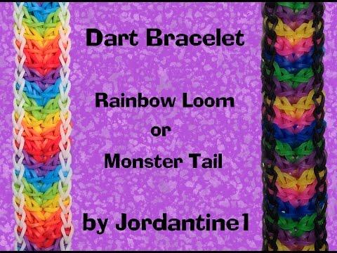 New Dart Bracelet – Rainbow Loom or Monster Tail