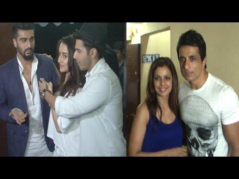 Arjun Kapoor, Sonu Sood & Other Celebs At Screening Of Film ABCD2