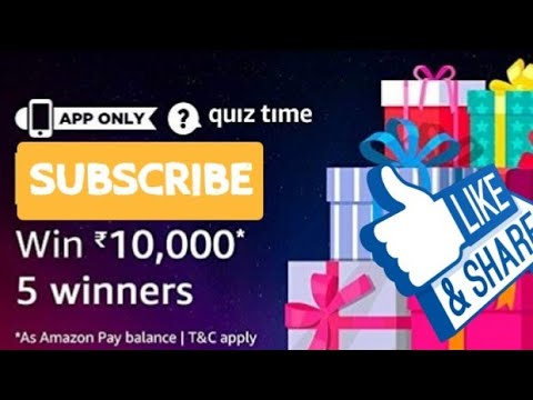Amazon Quiz Today Answers  Win в10,000 25 march 2019