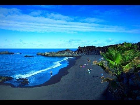 ИСПАНИЯ: едем на черный пляж в Пуэрто Наос... Ла Пальма Канарские острова... Саnаrу - DomaVideo.Ru